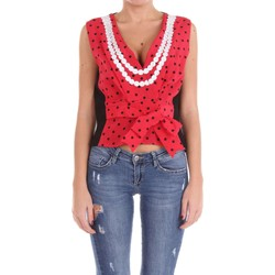 textil Mujer Tops / Blusas Moschino Couture 08050437 Top Mujer Rojo y negro Rojo y negro