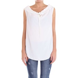 textil Mujer Tops / Blusas Moschino Boutique 02161137 Suéter Mujer Blanco Blanco