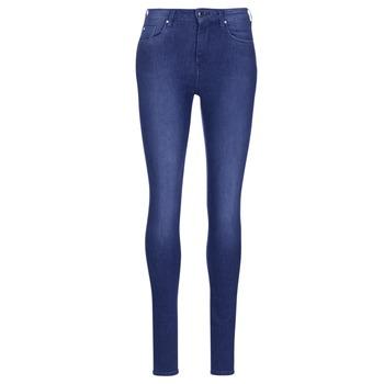 textil Mujer Vaqueros slim Pepe jeans REGENT Azul / Ce2 / Cristal / Swarorsky