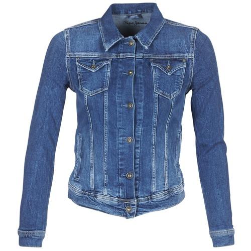 Pepe jeans THRIFT Azul / Medium - Envío gratis | ! - textil chaquetas denim Mujer