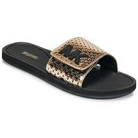 Zapatos Mujer Chanclas MICHAEL Michael Kors MK SLIDE Negro / Oro