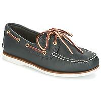 Zapatos Hombre Zapatos náuticos Timberland CLASSIC 2 EYE NAVY / Smooth