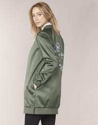 textil Mujer cazadoras Tommy Hilfiger MABEL-LONG-BOMBER Kaki