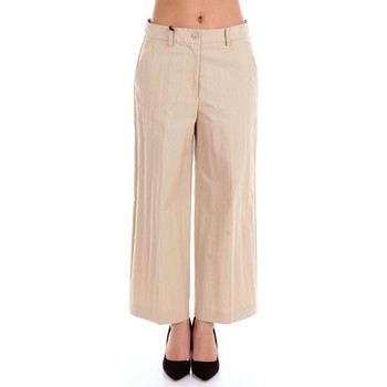 textil Mujer Pantalones fluidos Moschino Boutique 03291122 Pantalon Mujer Beige Beige