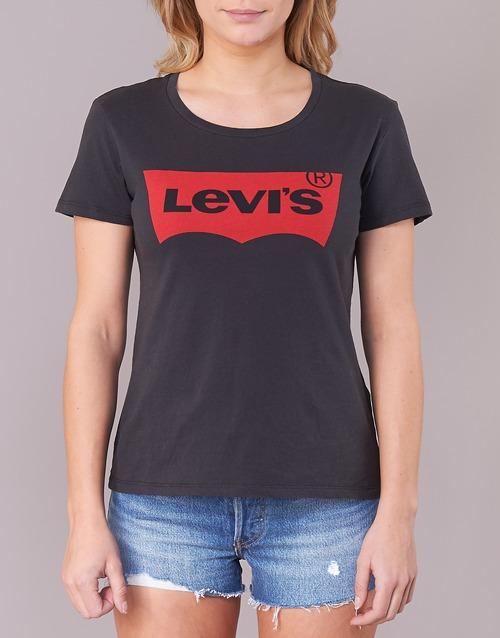 Corta Camisetas Mujer Manga Textil Perfect The Tee Levi's Negro srQdthC
