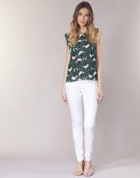 textil Mujer pantalones con 5 bolsillos Le Temps des Cerises 316 Blanco