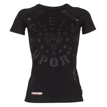 textil Mujer camisetas manga corta Philipp Plein Sport FORMA LINEA Negro
