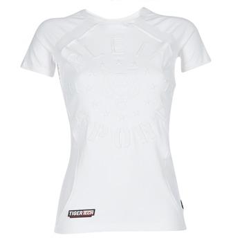 textil Mujer camisetas manga corta Philipp Plein Sport FORMA LINEA Blanco / Blanco