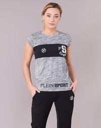 textil Mujer camisetas manga corta Philipp Plein Sport THINK WHAT U WANT Gris