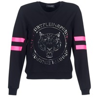 textil Mujer sudaderas Philipp Plein Sport LET YOUR MIND FREE Negro / Oro