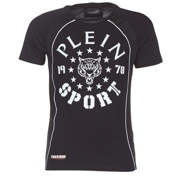 textil Hombre camisetas manga corta Philipp Plein Sport LIONEL Negro / Blanco