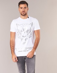 textil Hombre camisetas manga corta Philipp Plein Sport EDBERG Blanco / Plata