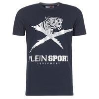 textil Hombre camisetas manga corta Philipp Plein Sport BORIS Marino / Plata