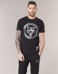textil Hombre camisetas manga corta Philipp Plein Sport IVAN Negro / Plata