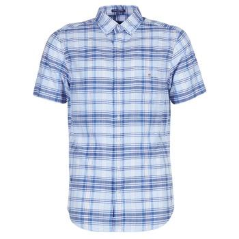 textil Hombre camisas manga corta Gant BLUE PACK MADRAS REG Azul