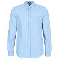 textil Hombre camisas manga larga Gant THE INDIGO REG Azul