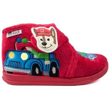 Zapatos Niños Pantuflas para bebé Vulladi CASA  DOG SQUAD ROJO