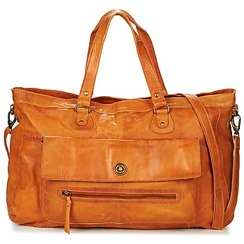 Bolsos Mujer Bolso para llevar al hombro Pieces TOTALLY ROYAL LEATHER TRAVEL BAG COGNAC
