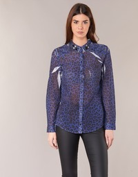 textil Mujer camisas Guess BORICE Azul