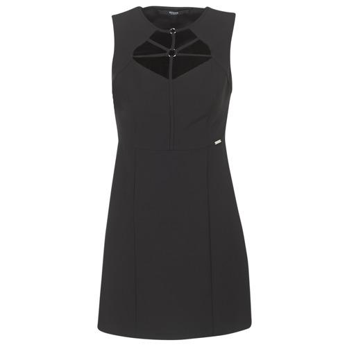 Guess Textil Slorepa Cortos Vestidos Mujer Negro sQCtrdh