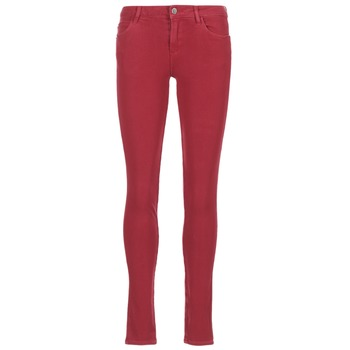 textil Mujer vaqueros slim Guess SANSOPO Rojo