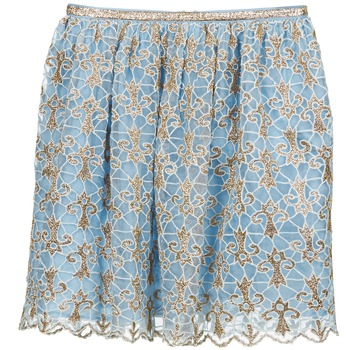 textil Mujer Faldas Manoush ARABESQUE Azul / Dorado