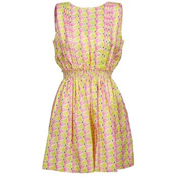 textil Mujer vestidos cortos Manoush FLAMINGO Rosa / Fluo / Amarillo