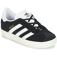 Zapatos Niños Zapatillas bajas adidas Originals GAZELLE I Negro / Blanco
