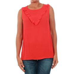 textil Mujer Tops / Blusas Jacqueline De Yong 15148076 JDYPINAR S/L FRILL TOP WVN HIGH RISK RED Rojo