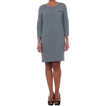 textil Mujer Vestidos cortos Jacqueline De Yong 15142620 JDYSAXO 3/4 DRESS JRS NIGHT SKY/WHITE Azul marino