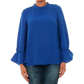 textil Mujer Tops / Blusas Only 15149954 ONLTOKE FLARE 3/4 TOP WVN SURF THE WEB Azul