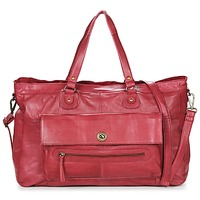 Bolsos Mujer Bolso para llevar al hombro Pieces TOTALLY ROYAL LEATHER TRAVEL BAG Burdeo