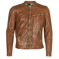 textil Hombre Chaquetas de cuero / Polipiel Redskins CROSS Cognac