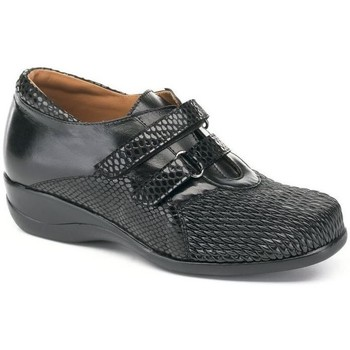 Zapatos Mujer Derbie Calzamedi S  DRAGON TEXTURE DOBLE NEGRO
