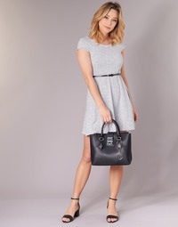 textil Mujer vestidos cortos Moony Mood IKIMI Blanco / Marino