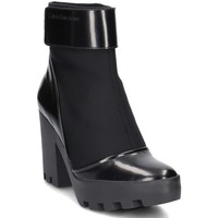 Zapatos Mujer Low boots Calvin Klein Jeans Sister Neoprene Negro