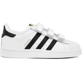 Zapatos Niño Deportivas Moda adidas Originals SUPERSTAR CF Blanco