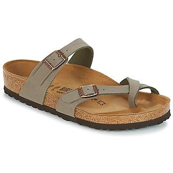 Zapatos Mujer Chanclas Birkenstock MAYARI Gris