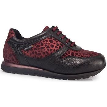 Zapatos Mujer Zapatillas bajas Calzamedi DEPORTIVAS  LEOPARD W BURDEOS