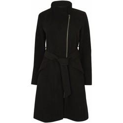 textil Mujer parkas Anastasia Abrigo de invierno con cremallera y cinturón para mujer Black