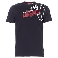 textil Hombre camisetas manga corta Lonsdale WALKLEY Negro