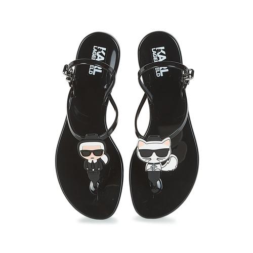 Karl Negro Mujer Lagerfeld Zapatos Sandalias Jelly Iconik 8wn0mOvN