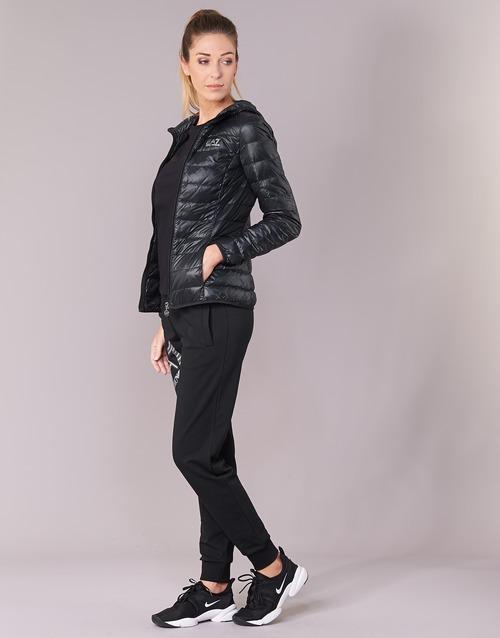 Mujer Plumas Ea7 Textil Core Train Emporio Armani Negro Lady 0OnPX8wk