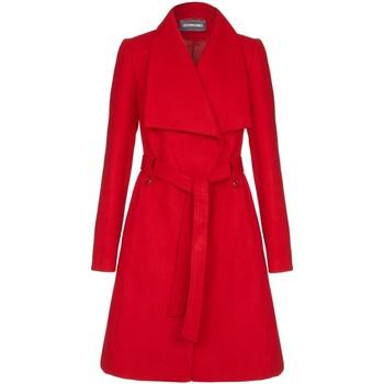 textil Mujer Trench Anatasia Fashions Abrigo de invierno con cinturón Red