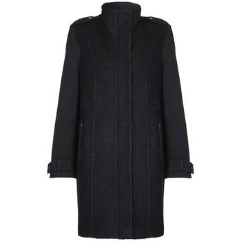 textil Mujer plumas Anastasia Abrigo de tejido de contrastes Black