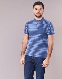 textil Hombre polos manga corta Casual Attitude INUTIOLE Azul / Blanco