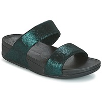 Zapatos Mujer Zuecos (Mules) FitFlop SLIDE Verde