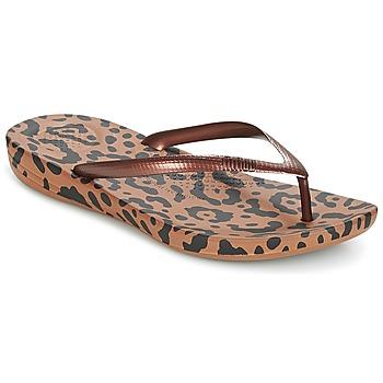 Zapatos Mujer Chanclas FitFlop IQUSHION ERGONOMIC FLIP-FLOPS Bronce / Mix / Leopardo / Print