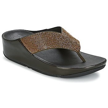 Zapatos Mujer Chanclas FitFlop CRYSTALL Oliva