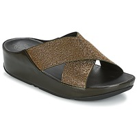 Zapatos Mujer Zuecos (Mules) FitFlop CRYSTALL SLIDE Oliva